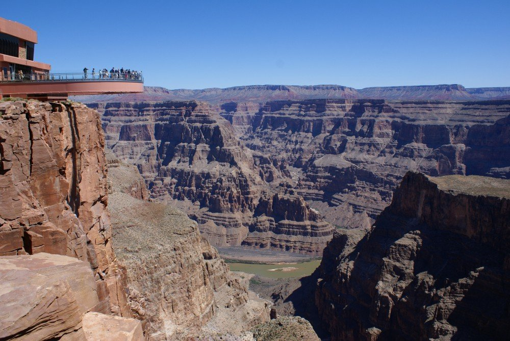 atração Skywalk no Eagle Point do Grand Canyon West